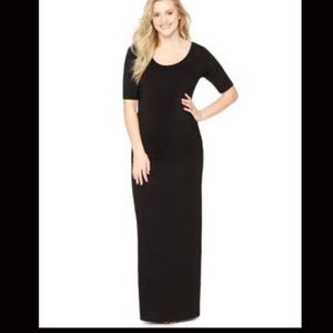 MOTHERHOOD MATERNITY Black Ruched Maxi Dress M